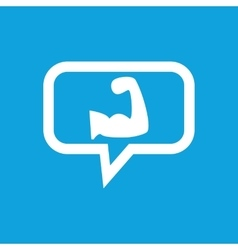 Muscular arm message icon vector
