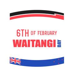 New zealand waitangi day on the 6th of february vector