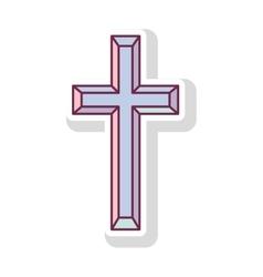 Religious cross icon vector