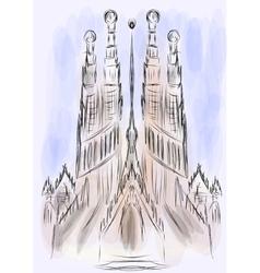 Sagrada familia cathedral vector