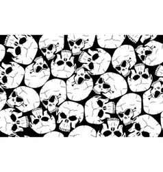 seamless skull camouflage pattern vector image vector image