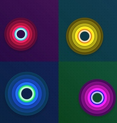 Set of Abstract Circles Background vector image vector image