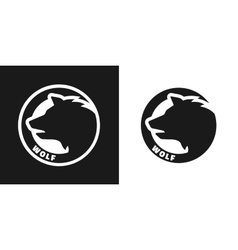 Silhouette of an wolf monochrome logo vector