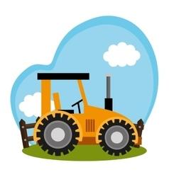 Tractor farm vehicle icon vector