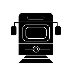 Train - tram front view icon vector