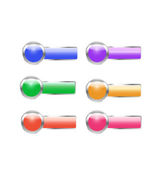 web buttons bright colored vector image vector image