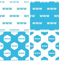Www patterns set vector