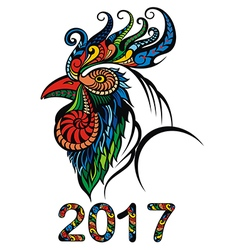 Rooster 2017 vector