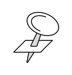 pushpin map school outline vector image