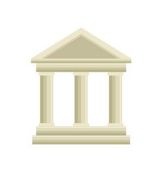 Building roman columns icon vector