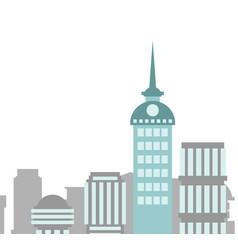City buildings landscape skyscrapers background vector