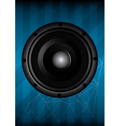 Black speaker with lines vector