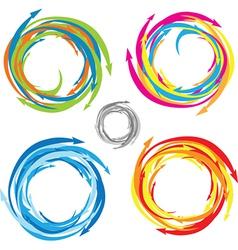 Color swirl vector image