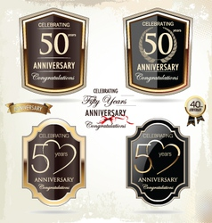 50 years Anniversary labels vector image vector image