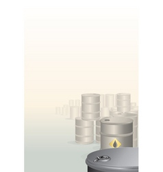 background with oil barrels vector image