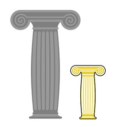 Old greek column ancient stone high post vector