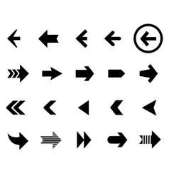 Back and next arrow icons set vector