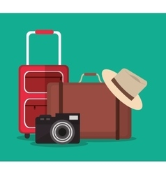 Travel and vacations design vector