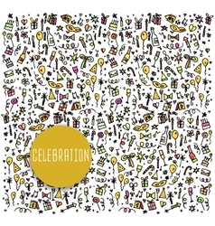 Celebration happy birthday doodles elements vector