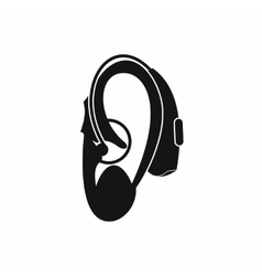 Hearing aid icon simple style vector