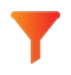 Filter simple sign orange applique isolated vector