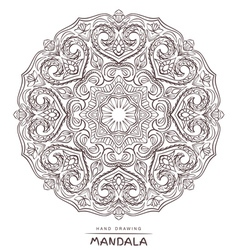 Mandala for coloring with decorative element vector