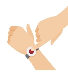 Alert button on the wrist vector image vector image