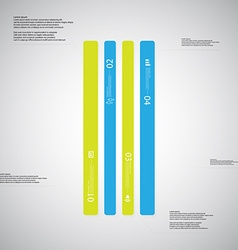Bar template consists of four color parts on light vector