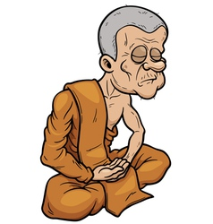 Buddhist Monk vector image