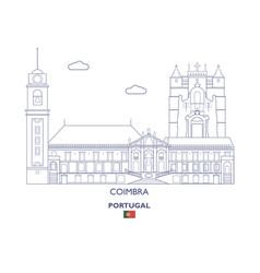 Coimbra linear city skyline vector