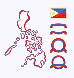 Colors of Philippines vector image