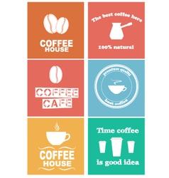Design coffee 2 vector image vector image