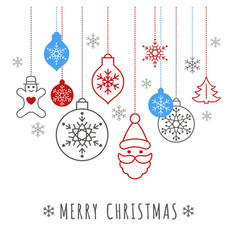 digital red happy new year vector image