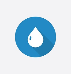 drop Flat Blue Simple Icon with long shadow vector image