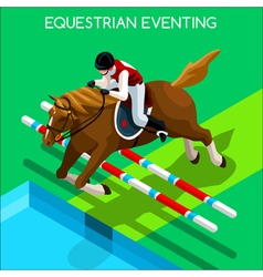 Equestrian eventing 2016 summer games 3d vector