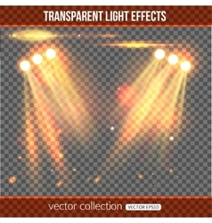 Floodlight over transparent background vector image