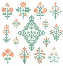 Floral style design elements vector image