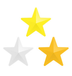 Gold silver and bronze star vector