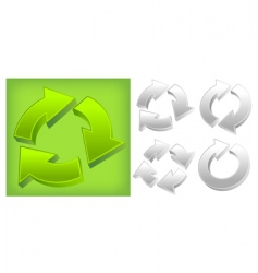 green arrows vector image vector image