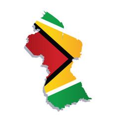 Guyana flag amp map vector