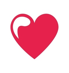 heart love drawing icon vector image vector image