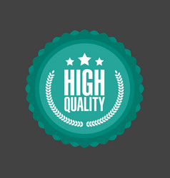 high quality flat badge sign round label vector image