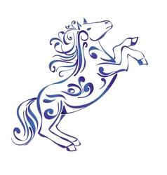 Horse Decorative Ornament sketch vector image vector image