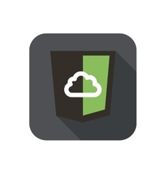 Icon web shield with cloud for node js vector