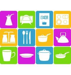 Kitchen set vector image vector image