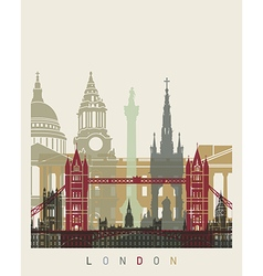 London skyline poster vector image