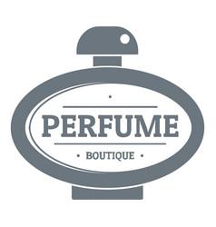 Perfume logo vintage style vector