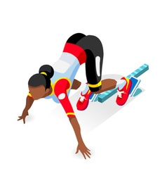 Running starting blocks 2016 sports isometric vector