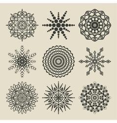 Set of circular patterns vector