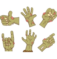 Set of iconszombie hands Collection of gestures vector image vector image